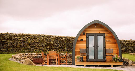 Two Acre Bit Camping Pod Exterior